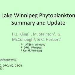 Lake Winnipeg Phytoplankton Summary and Update front