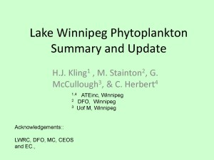 Lake Winnipeg Phytoplankton Summary and Update